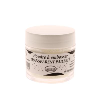 Poudre embosser 25 ml transparent paillet aladine chez - Peinture transparente pailletee ...