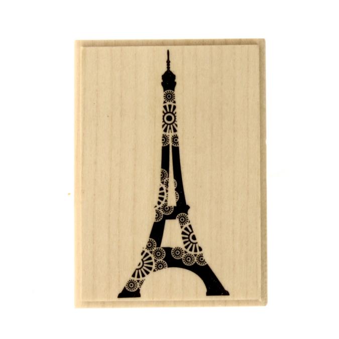 Tampon Tour Eiffel dentelle