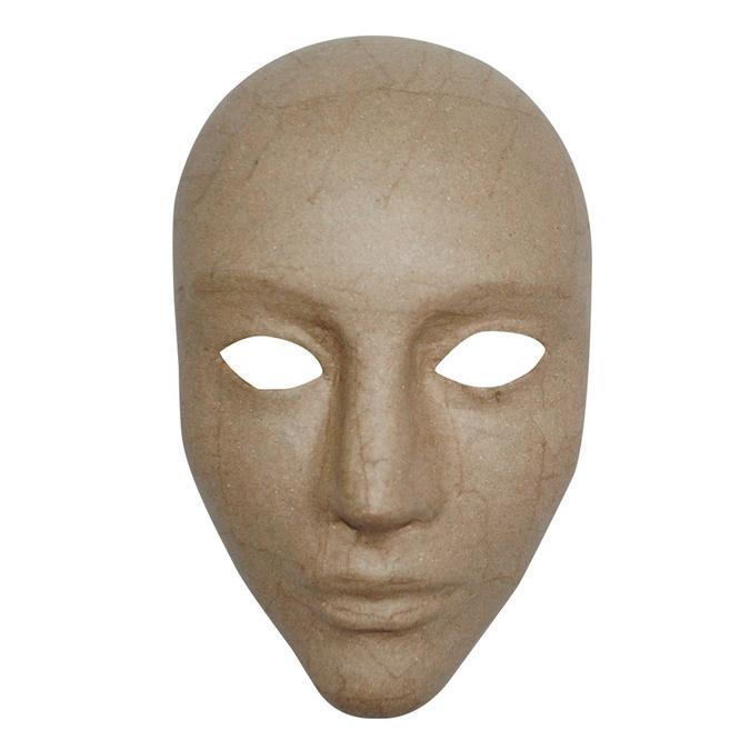 Masque en papier mâché intégral