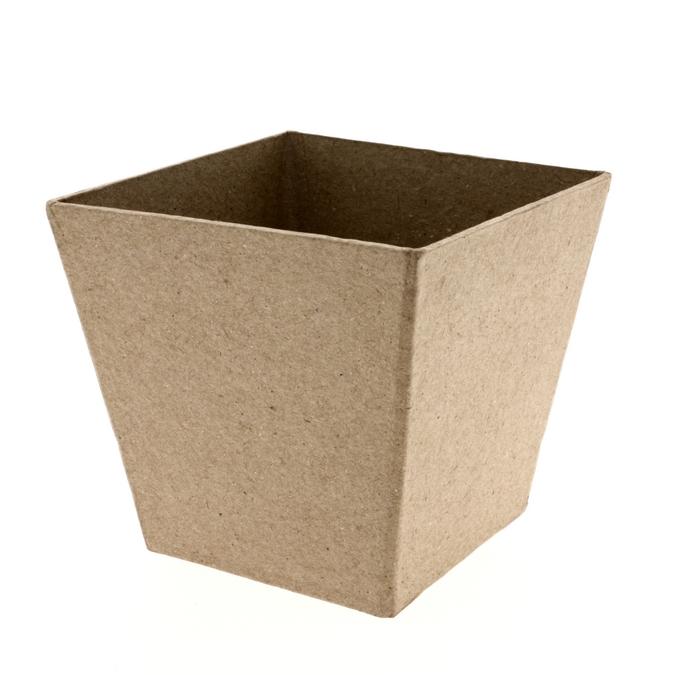 Pot en papier mâché 10 x 10 x 9,5 cm