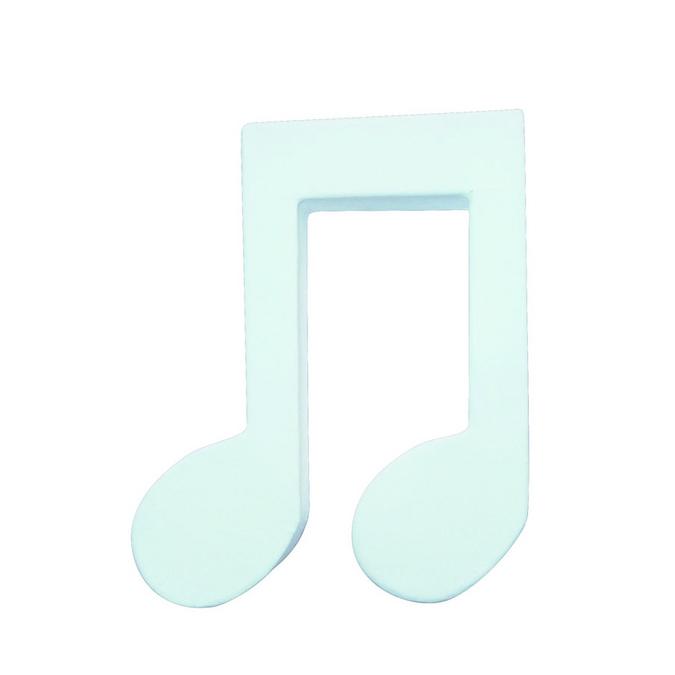 Objet en papier mâché note de musique double croche