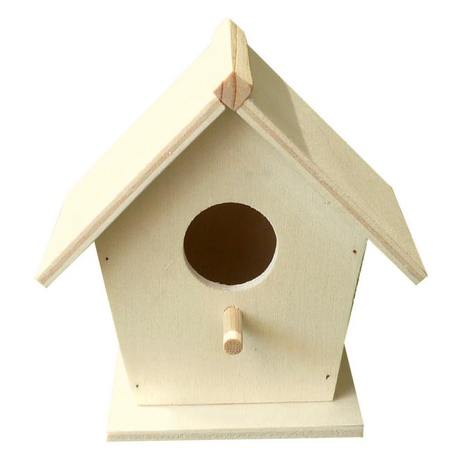 Nichoir à oiseaux en bois 70 x 65 x 115 mm