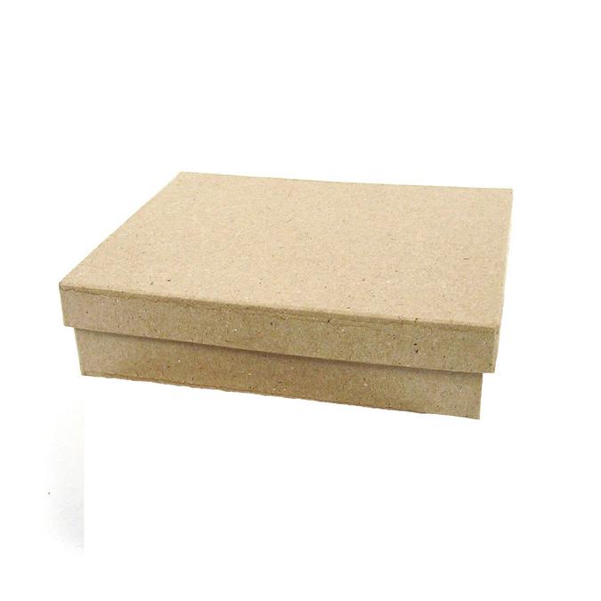 Boîte rectangle en papier mâché 10 x 7 x 2,5 cm