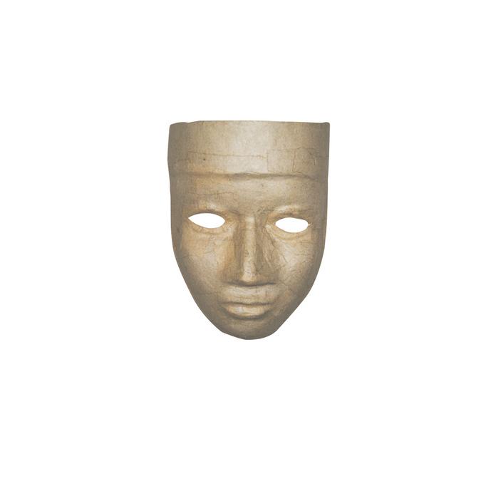 Masque en papier mâché femme