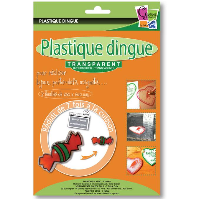 Plastique dingue transparent 7 feuilles 26 x 20 cm