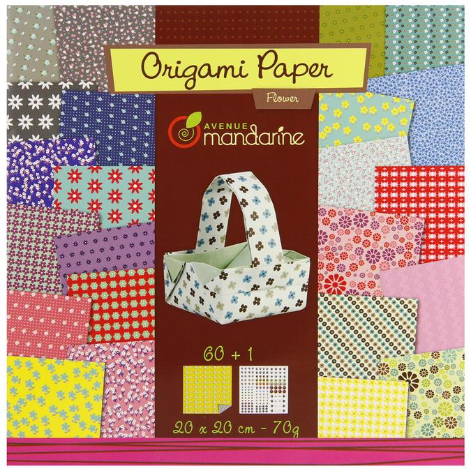Papier origami Flowers 20x20cm 60 feuilles