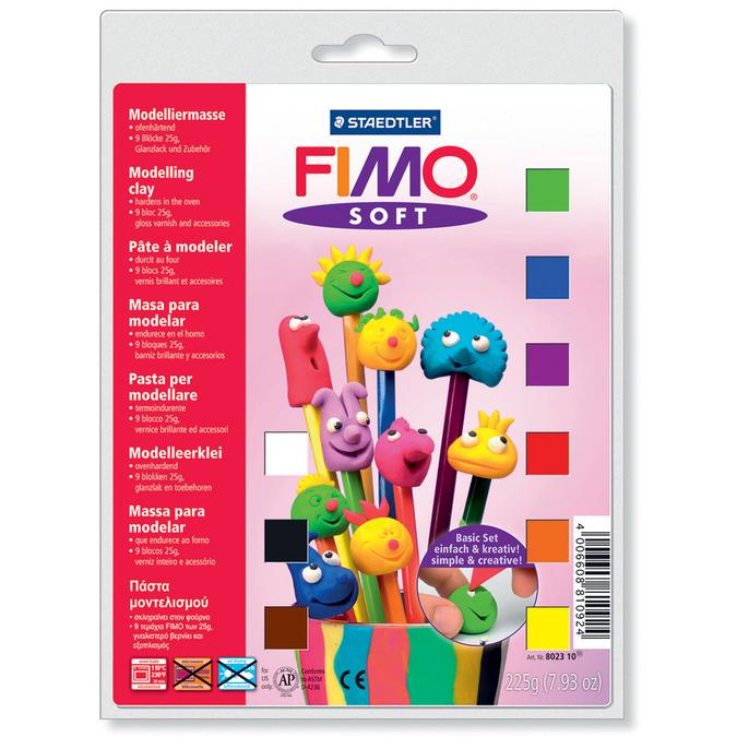 Demi pains de pâte polymère Fimo Soft x 9