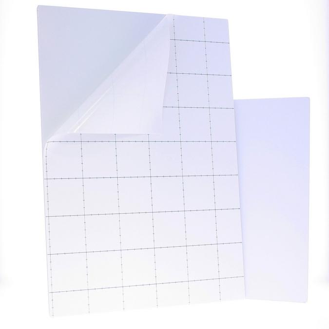 Carton mousse blanc 5 mm avec 1 face adhésive 70 x 100 cm