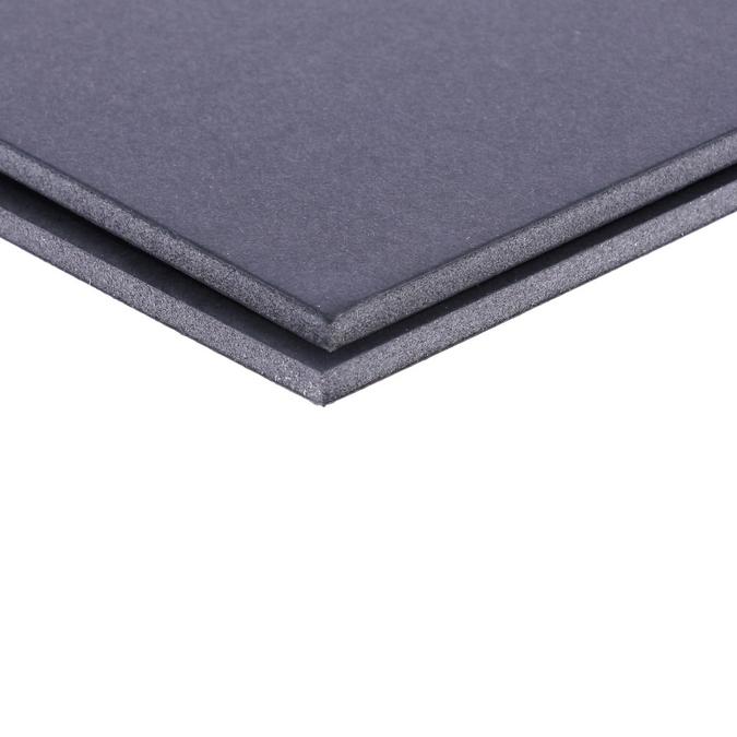 Carton mousse noir 5 mm 2 faces mates 70 x 100 cm