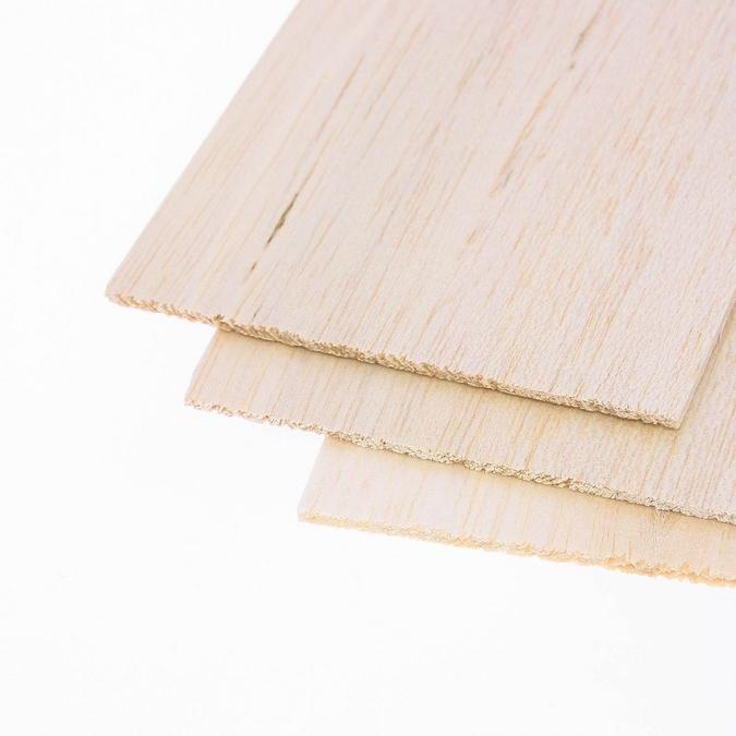 Planche de balsa longueur épaisseur 10 mm L 1 m
