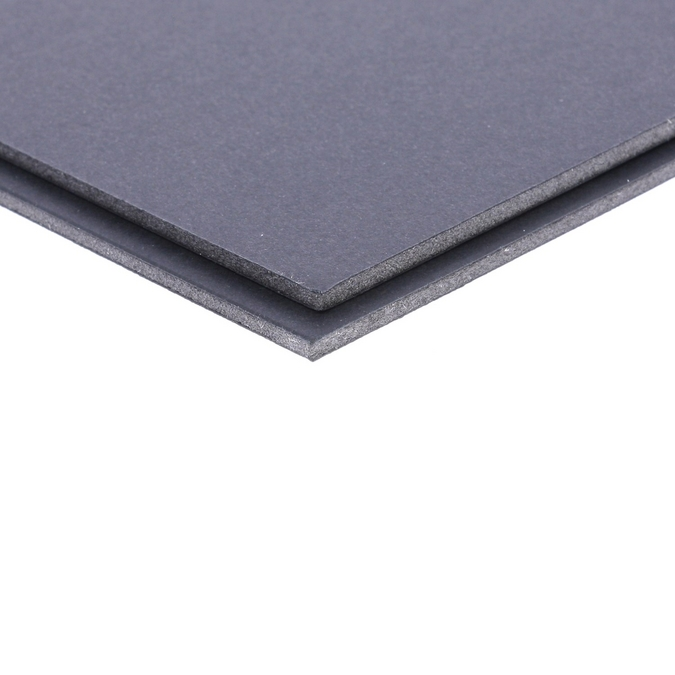 Carton mousse noir 3 mm 2 faces mates 50 x 65 cm