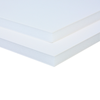 carton mousse 10 mm 2 faces aluminium laqu blanc airplac chez rougier pl. Black Bedroom Furniture Sets. Home Design Ideas