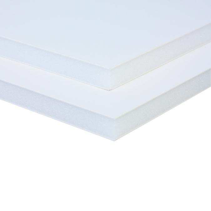 Carton mousse 10 mm 2 faces aluminium laqué blanc 70 x 100 cm