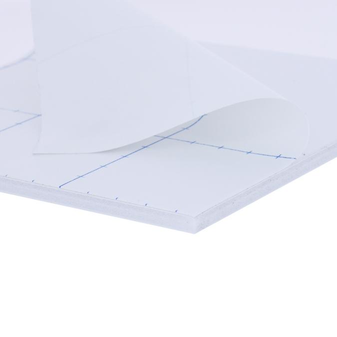 Carton mousse 5 mm 1 face adhésive + 1 face aluminium laqué blanc 70 x 100 cm