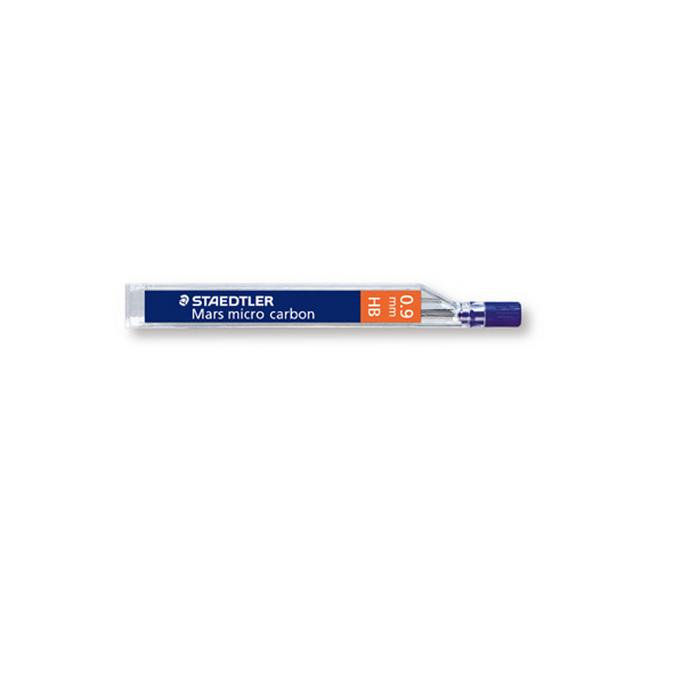 Mines graphite Mars Micro Carbon 0.9mm étui de 12 dureté HB