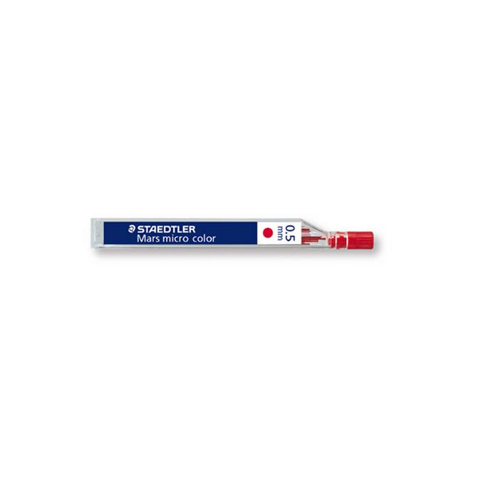 Mines graphite Mars Micro Color 0.5mm étui de 12 rouges
