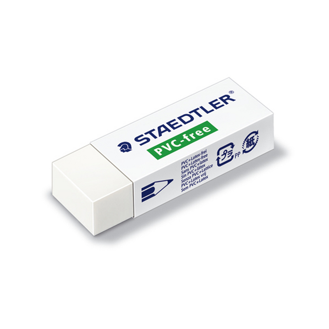 Gomme blanche Staedtler sans PVC ni latex 65 x 23mm