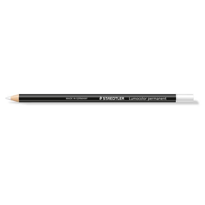 Crayon Lumocolor Glasochrom blanc