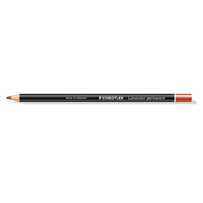 Crayon Lumocolor Glasochrom rouge
