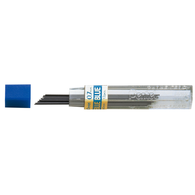 12 mines 0,7 mm bleues