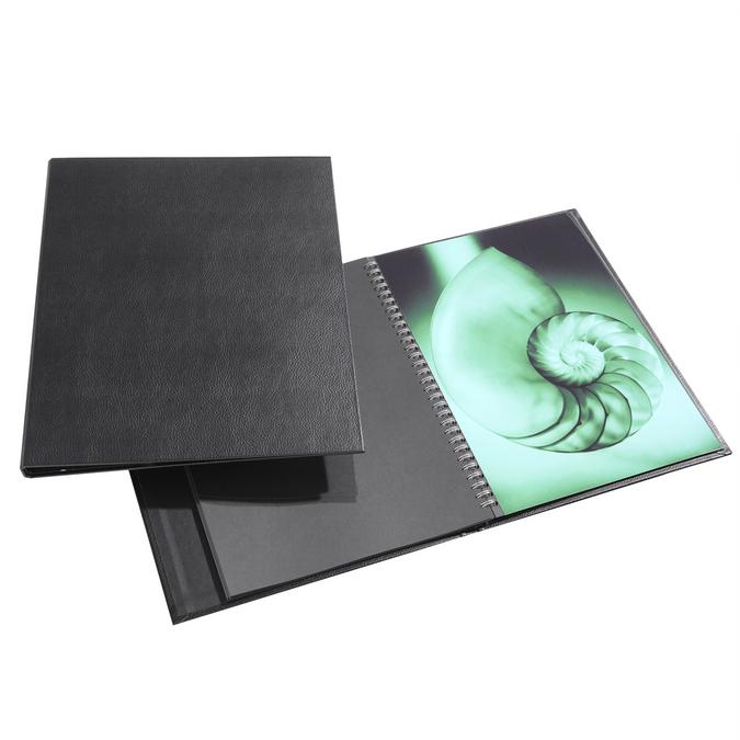 Press-book Modebook à spirales + 10 pochettes 21 x 30 cm