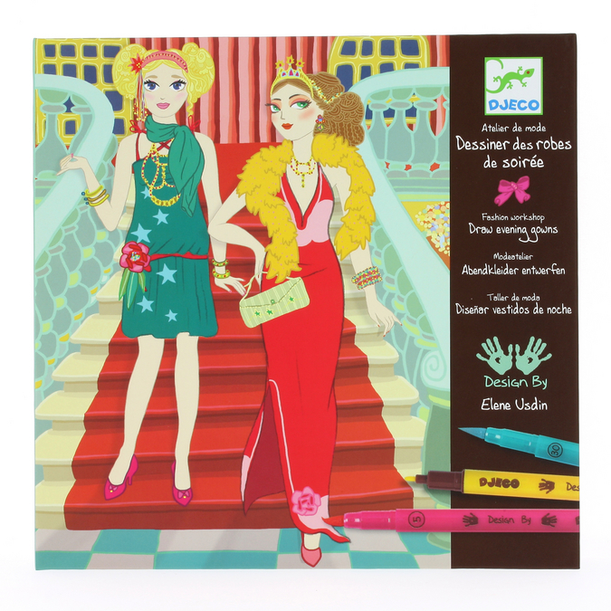 Coffret de coloriage au feutre-pinceau Robes de soirée