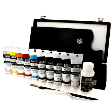 coffret acrylique heavy body liquitex chez rougier pl. Black Bedroom Furniture Sets. Home Design Ideas