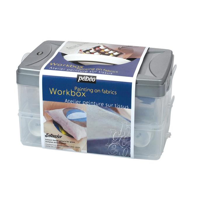 Kit Workbox Setacolor 10 x 45ml Peinture sur tissus