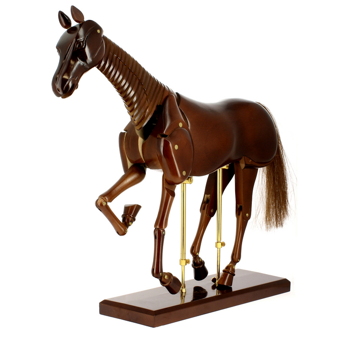 Mannequin en bois cheval 50cm