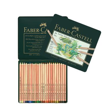 boîte métal 24 crayons pitt pastel faber-castell chez rougier & plé