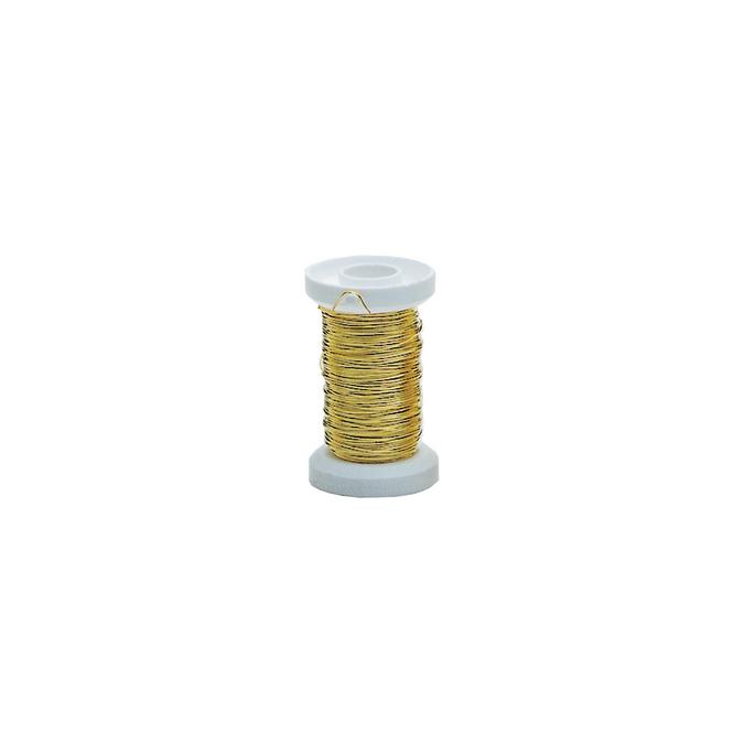 Fil de laiton 40 m diam. 0,40 mm