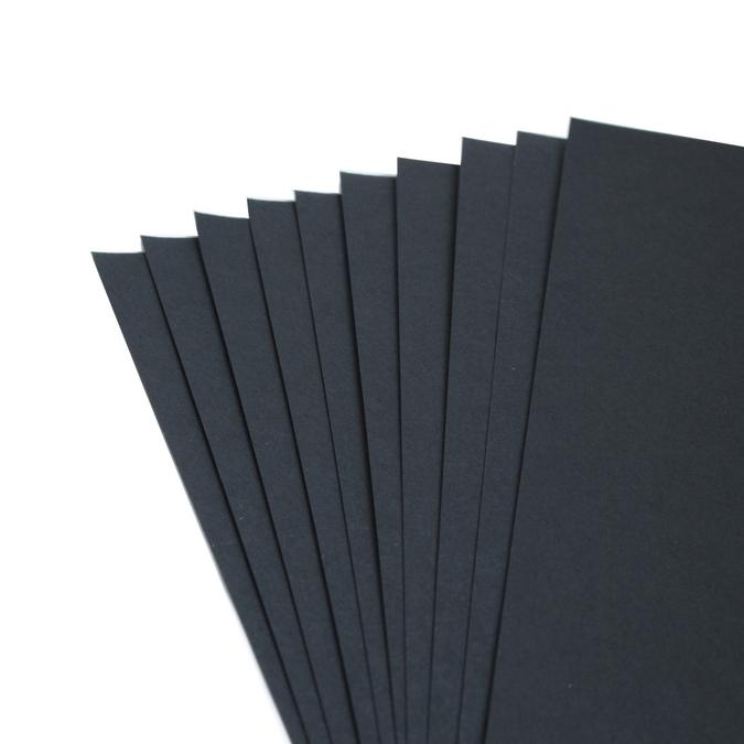 Feuille de papier noire à grain 50 x 65 cm 160 g/m²