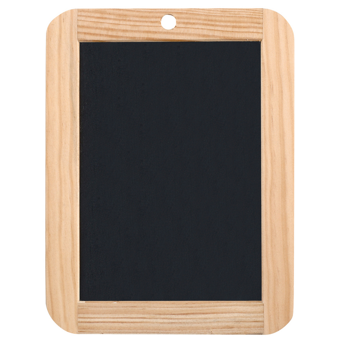 Ardoise naturelle 18 x 26 cm cadre bois