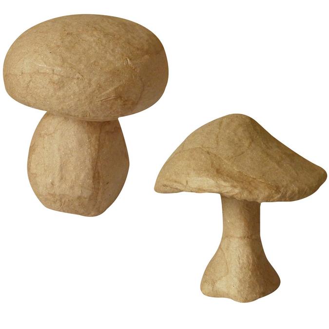 Set de 2 champignons 11,5 x 13 cm & 10,5 x 9,8 x 13,2 cm