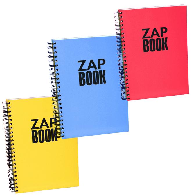 Bloc papier Zap Book spiralé grand côté 160 feuilles 80g/m² A4