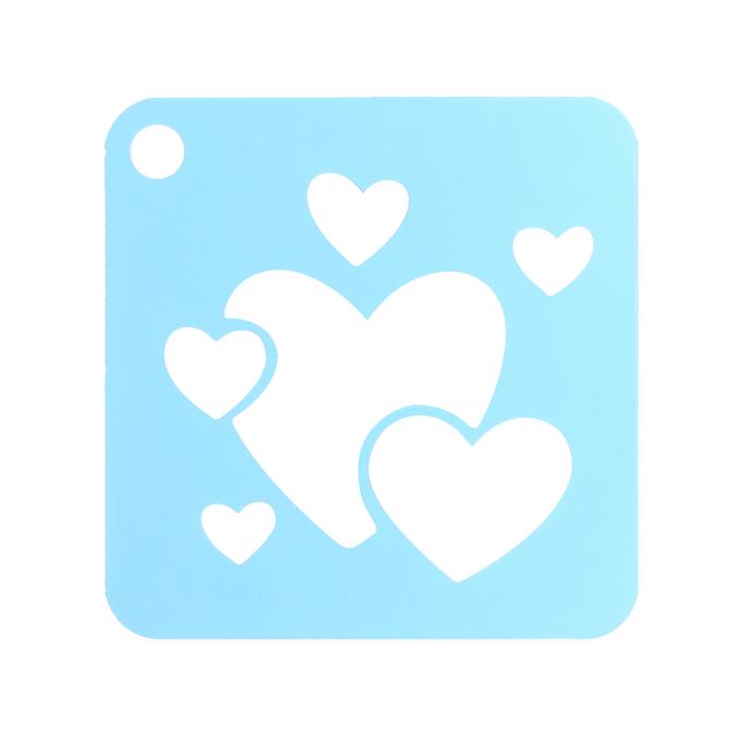 Set de 6 pochoirs enfants Cœurs