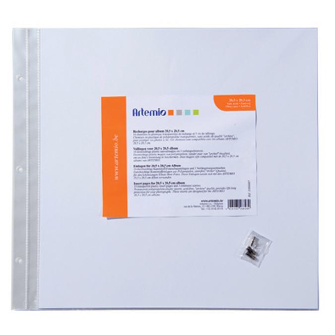 Recharge plastique 20x20cm pour Album Artemio