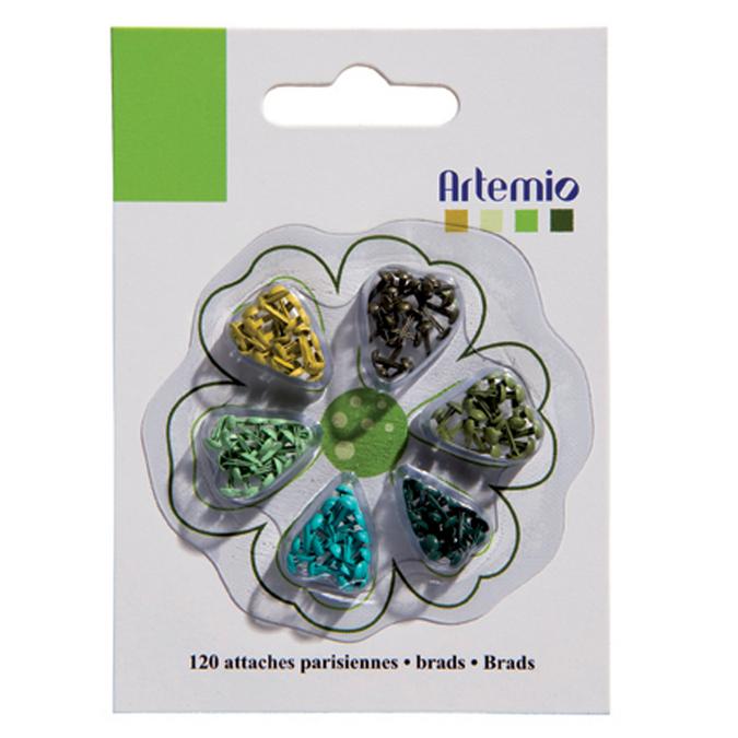 Attaches Parisiennes miniatures Vert