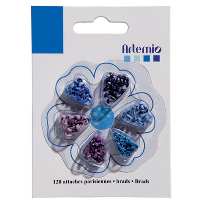 Attaches Parisiennes miniatures Bleu