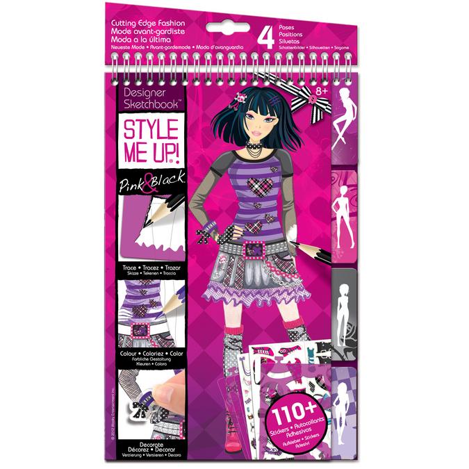 Carnet d'esquisse Pink & Black STYLE ME UP