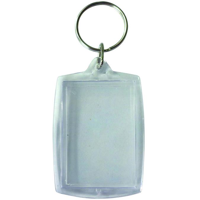 Lot de 6 porte clés transparents rectangles