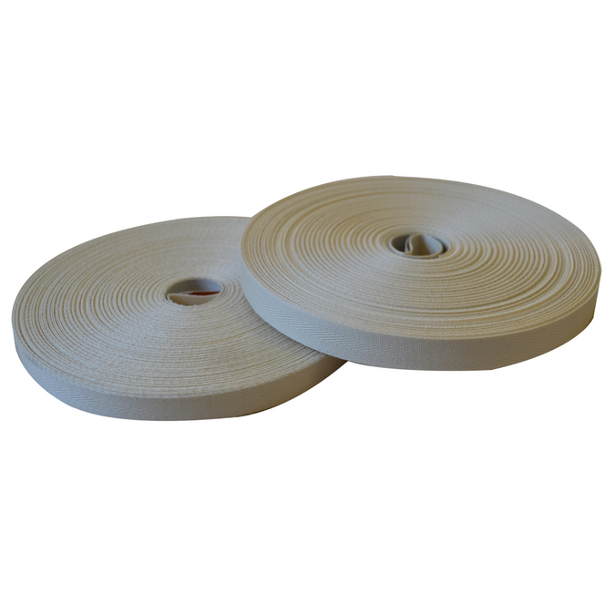Ruban sergé en coton bobine de 50 m 20 mm