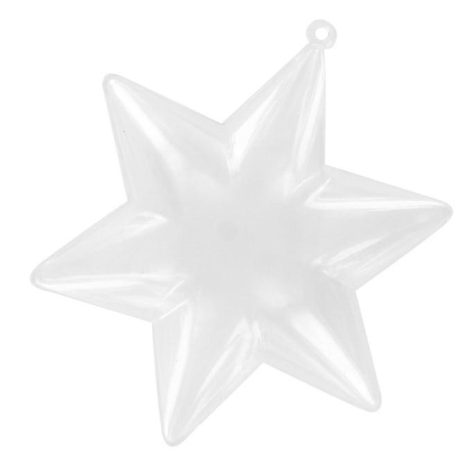 Etoile plastique transparent 10 cm