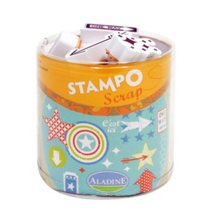 Kit 26 tampons Stampo'scrap flèches et étoiles