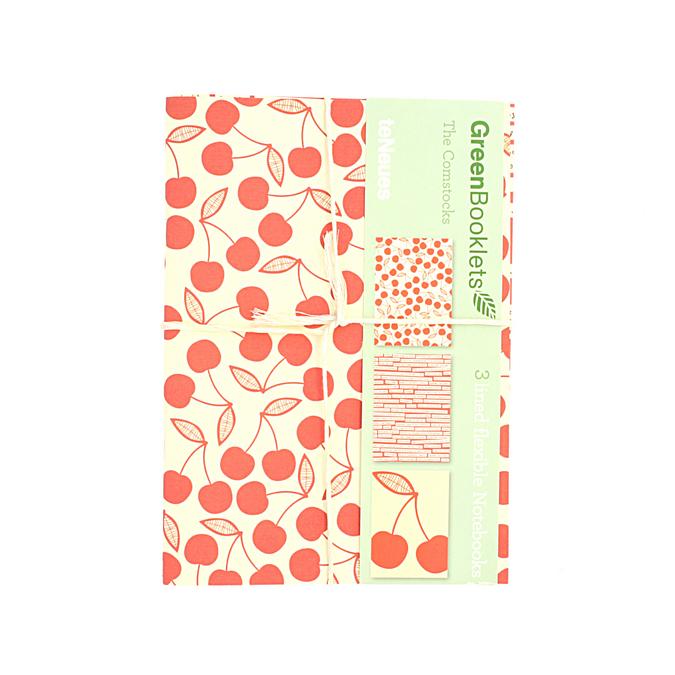Set de 3 cahiers avec 3 couvertures différentes 14,9 x 20,9 cm pages blanches . Rouge