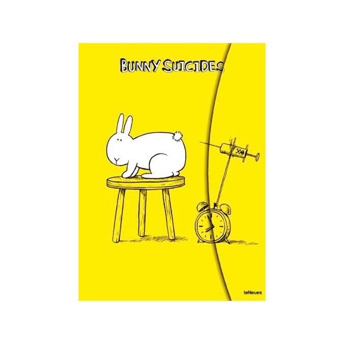Carnet magnétique Bunny suicides pages blanches 16 x 22 cm