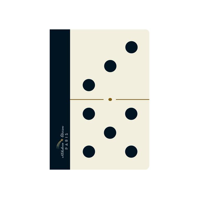 Carnet A6 couverture soft-touch 100 pages lignées et numérotées Domino