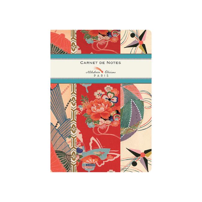 Carnet A6 couverture soft-touch 100 pages lignées et numérotées Les cerfs-volants