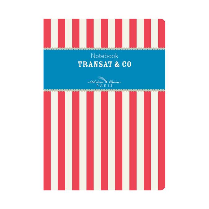 Carnet A5 couverture soft-touch 100 pages lignées et numérotées Transat & co