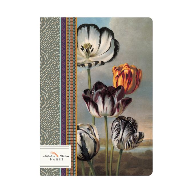 Carnet A5 couverture soft-touch 100 pages lignées et numérotées Tulipomania